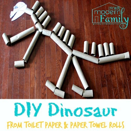 toilet paper roll dinosaur skeleton