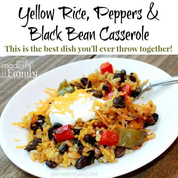 Yellow Rice, Black Bean & Pepper recipe