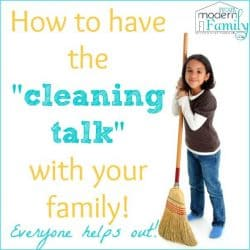 have the cleaning talk