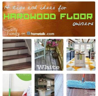 A collage of different types of flooring with text on it.