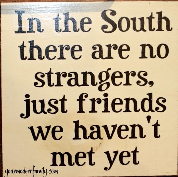 in the south