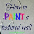 paint a textured wall