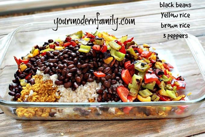 Yellow Rice, Black Bean & Pepper recipe