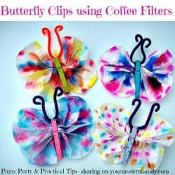 Butterfly clips using coffee filters