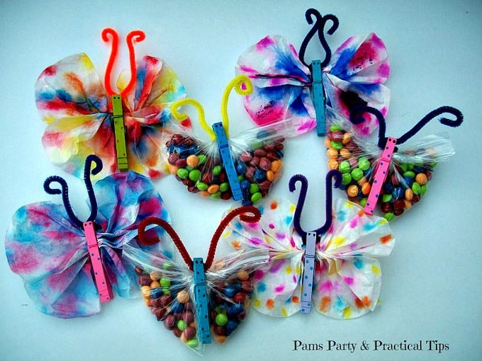 Butterfly crafts using coffee filters