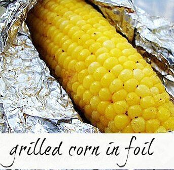 Cooking an ear of corn in foil
