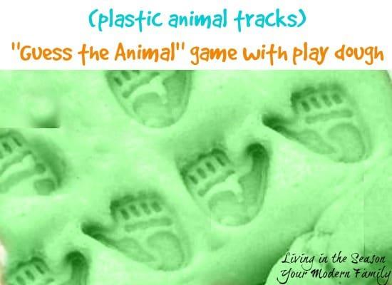 animal tracks in play dough