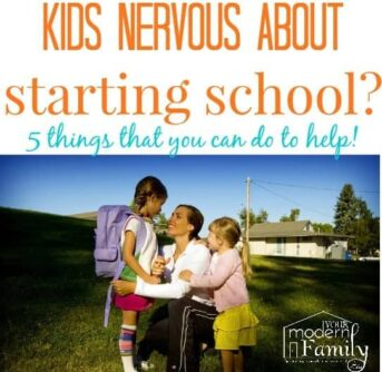 child is nervous about starting school