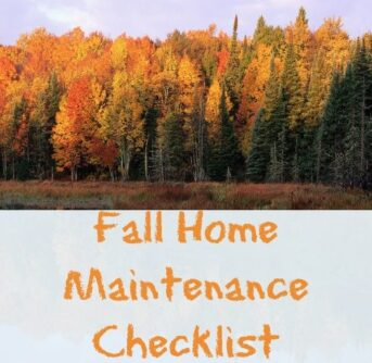fall home Maintenance checklist