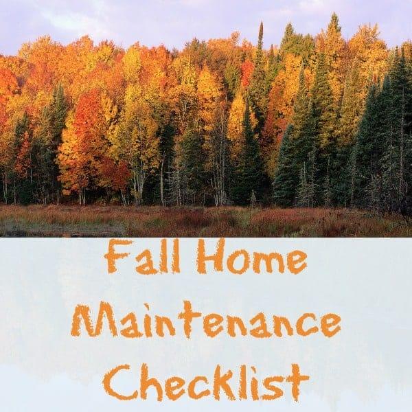 Car Maintenance Checklist >> fall home Maintenance checklist