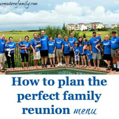 family reunion menu ideas