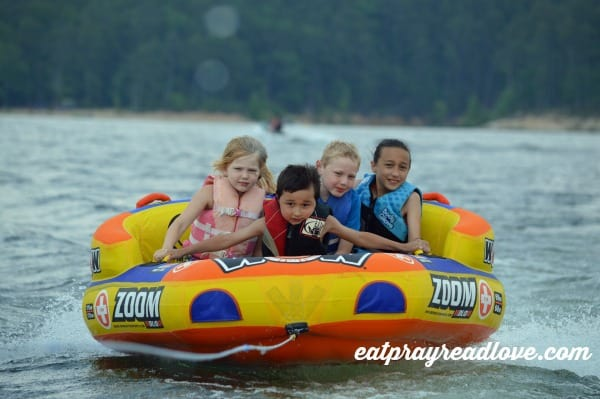 kids on tube