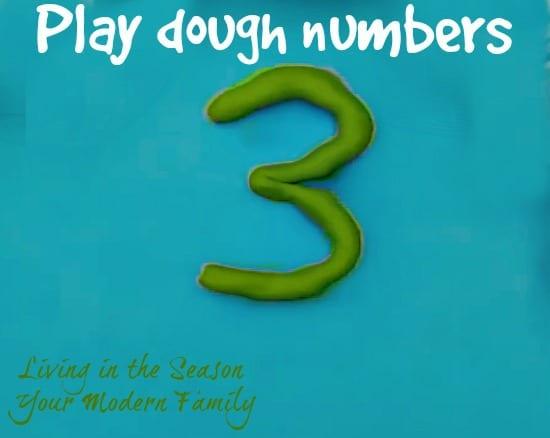 play dough number