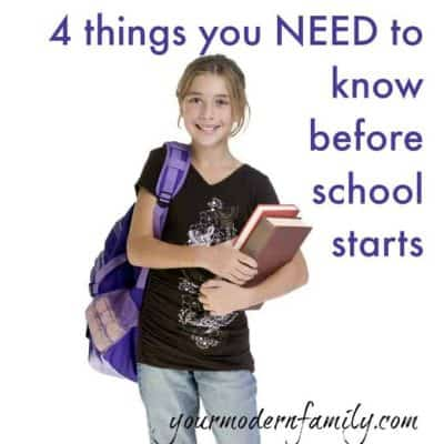 4 things to get before school starts