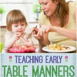 teaching table manners to YOUNG kids