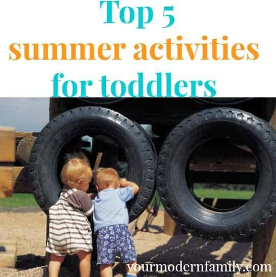 top five summer activities for toddlers