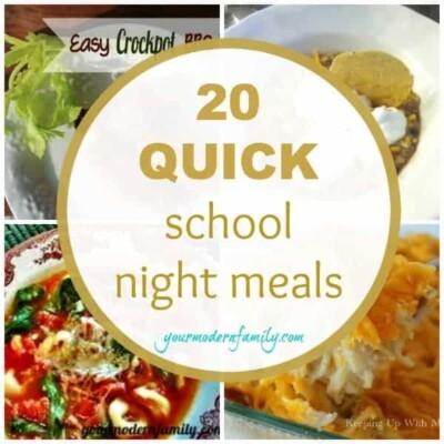 quick school night meals