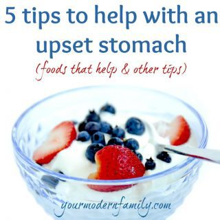 5 tips to help with an upset stomach  (& giving away some great coupons)