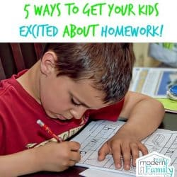 5 ways to get your kids excited about homework