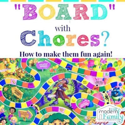Board with Chores Make them fun again!!