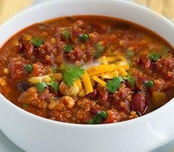 Chili with salsa