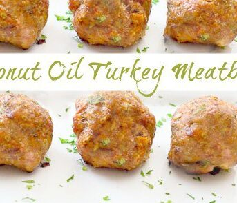 Coconut oil turkey meatballs