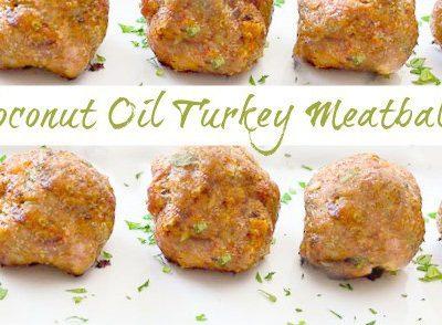 Coconut oil turkey meatballs