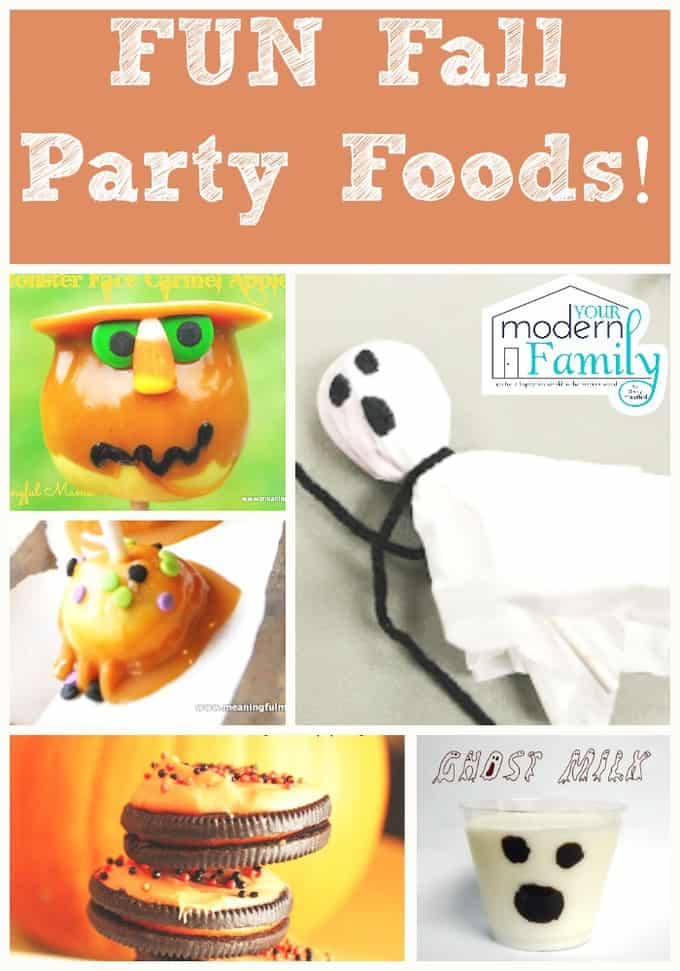 Fun fall party foods!