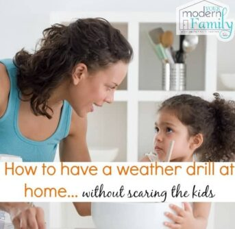 How to have a weather drill at home