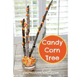 candy corn tree yourmodernfamily.com