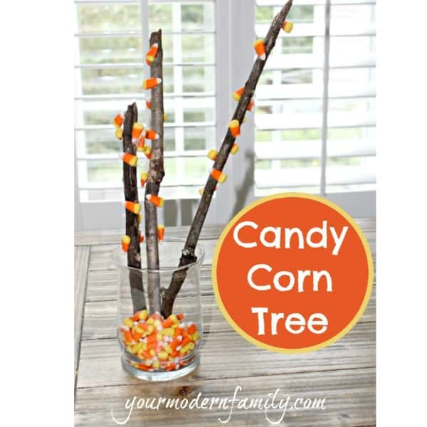 candy corn tree yourmodernfamily.com