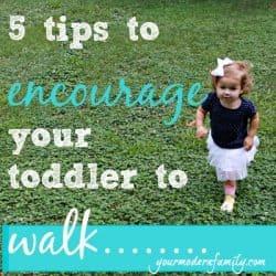 encourage your toddler to walk