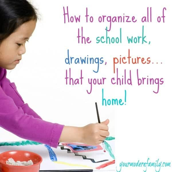 How I Organize Our Kid 39 S School Work Projects Drawing