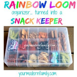 Rainbow Loom Box Hack – portable snack organizer!