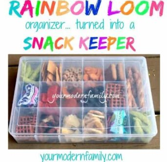 rainbow loom snack keeper