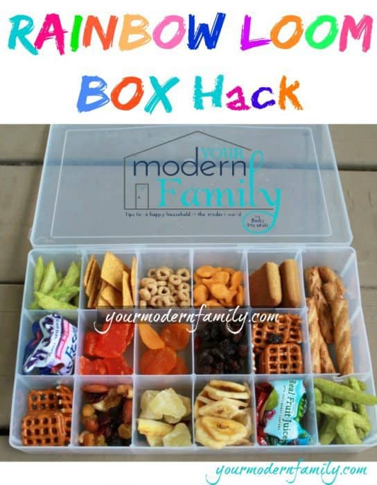 rainbow snack box
