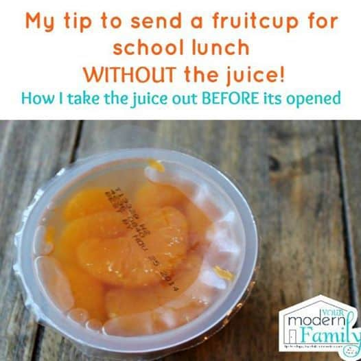 take juice out of fruit cup before opening