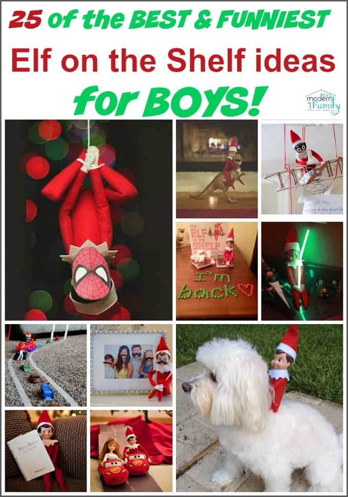 pin for 25 of the BEST & FUNNIEST Elf on the Shelf ideas for BOYS!