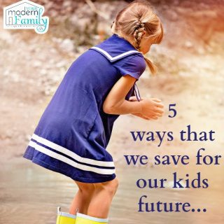 Saving money for our children's future