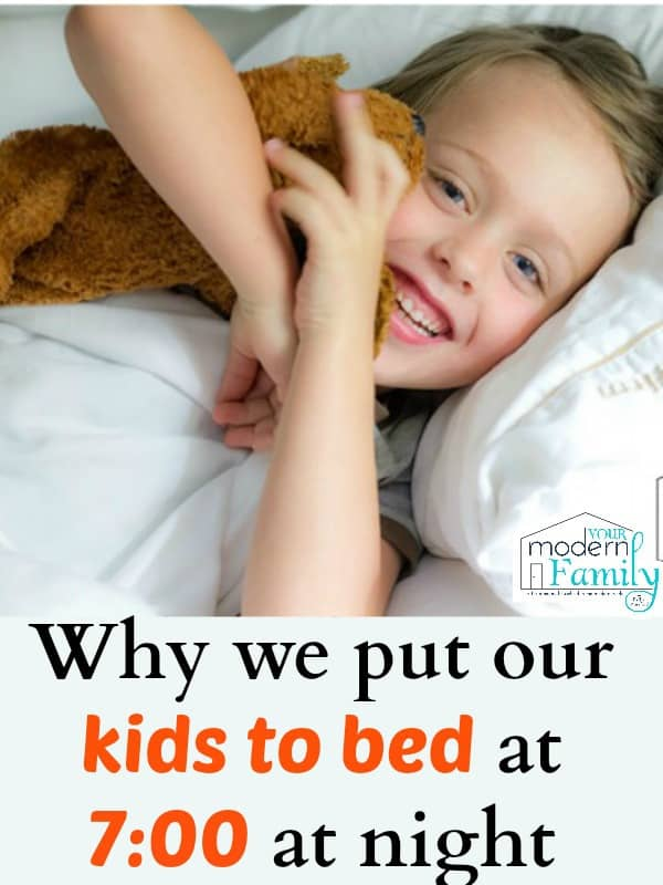 7:00 bedtime is the rule in our house