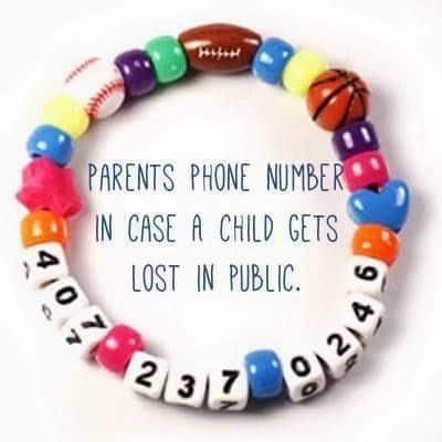 i'm lost beaded bracelet