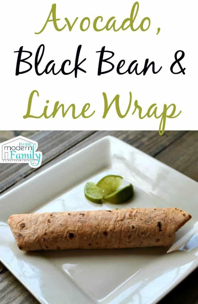 Avocado, Black Bean & Lime Wrap (CLEAN EATING)