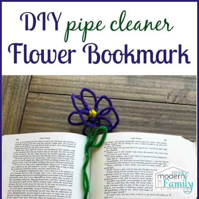 DIY pipecleaner flower bookmark