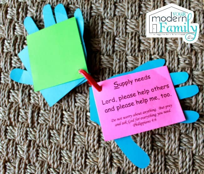 Prayer hands - S is for Supply needs