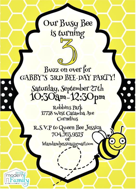 bee-day invitation