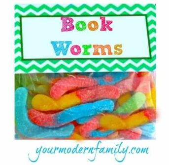 A close up of gummy worms with text above them.