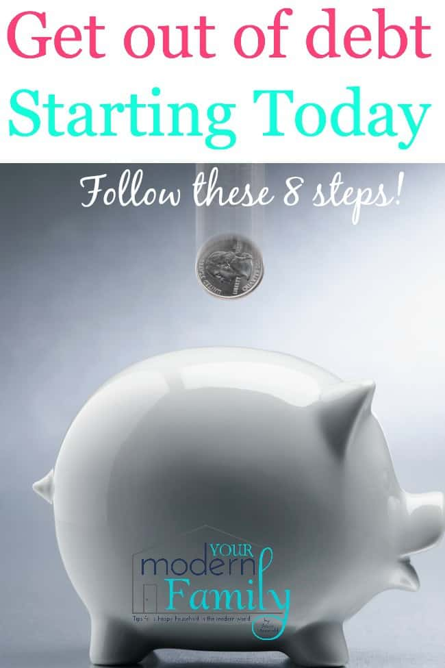 get out of debt starting today