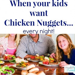 chicken nuggets every night