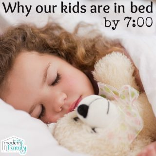 Why I put my kids to bed at 7