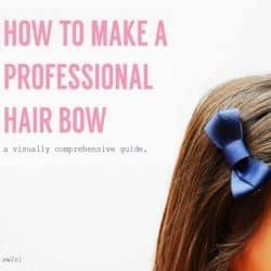 make a professional hair bow